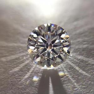 D couleur 9mm rond brillant coupe lâche moissanite VVS1 Grade anneau bijoux faisant des boucles d'oreilles en pierre matériel 3ct