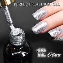 60752 Новинка Venalisa поставка ногтей Venalisa 12 мл 12 цветов супер алмазные Блестящие Блестки блесток Звездная Платина краска гель