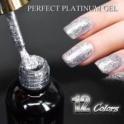 #60752 2019 Новинка Venalisa поставка ногтей Venalisa 12 мл 12 цветов супер алмазные Блестящие Блестки блесток Звездная Платина краска гель