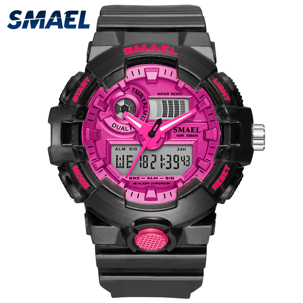 2020 NEW SMAEL Women's And Men's Watches Sport Watch Clock Couple Digital Wrist Watch 8023 Waterproof Erkek Saat LED Clock Gift