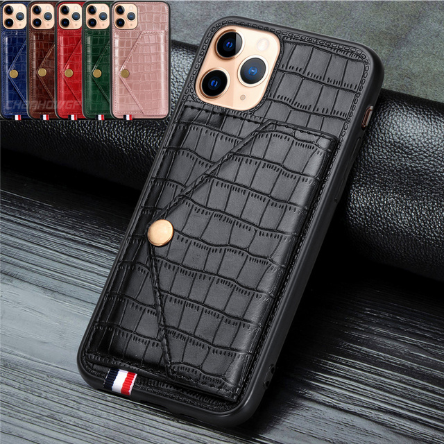 Leather Business Wallet Iphone Case