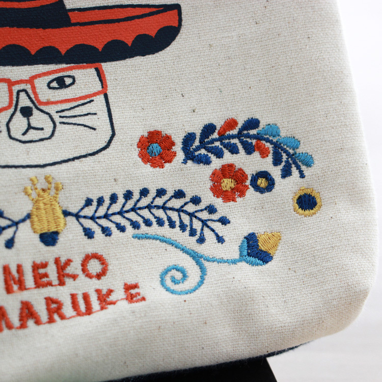 Japan New Style Embroidered Mexico Cat Wallet Purse Passport Bag Cheque Was Storage Three Fold Wallet Seiko Yi