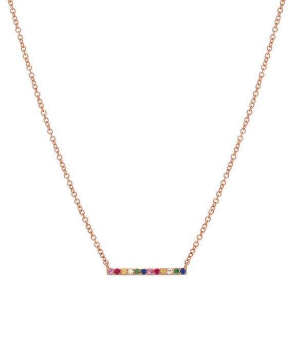 Простое Ожерелье в виде радуги, цвет розового золота и серебра, серебро 925 пробы, металлическое, высококачественное, минималистичное, деликатное ювелирное изделие