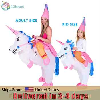 unicorn pony halloween horse inflatable costume for womens men adults kids cosplay onesies mascot miraculous holiday jumpsuit - DISCOUNT ITEM  38% OFF All Category