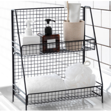 Wrought Iron Makeup Storage Kitchen Storage Box Storage Rack Kitchen Bathroom Cosmetics Storage Rack Flower Pot Display Stand