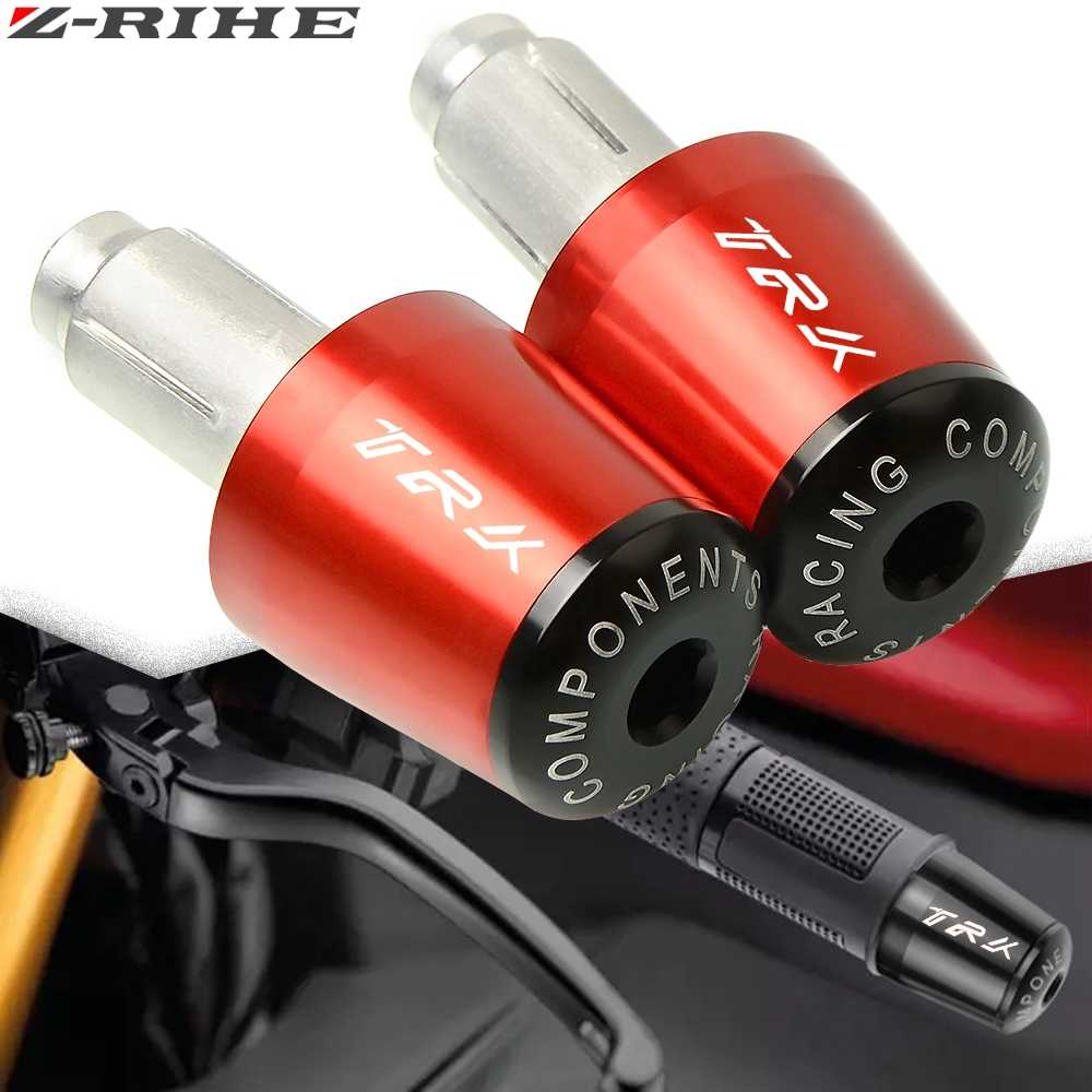 Motorcycle CNC 7//8/'/' Handlebar End Grips Weight Plugsfor Benelli TRK502 TRK 502