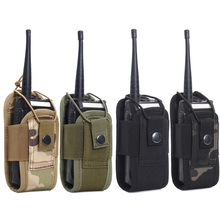 1000D Tactical Molle Radio Walkie Talkie Pouch Waist Bag Holder Pocket Portable Interphone Holster Carry Bag for Hunting Camping