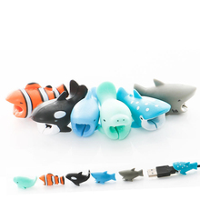 Cable Protector USB for iPhone Winder-Cover Data-Line-Cord Cats Panda Shark-Bite Cartoon