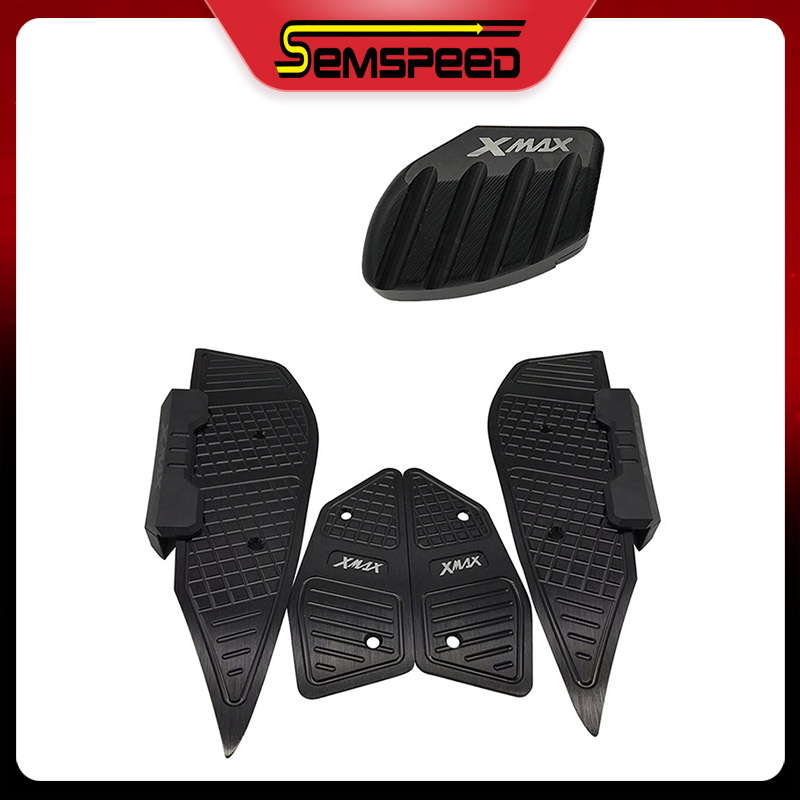 Foot Rests Plate Pedals Stand Enlarge Pad Set Semspeed Motorcycle Footrest Pads For Yamaha XMAX  300 250 2017-2019