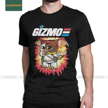 Gremlins T-Shirt for Men Gizmo 80s Movie Mogwai Monster Retro Sci Fi Casual Cotton Tees Short Sleeve T Shirt 4XL 5XL 6XL Tops - discount item  40% OFF Tops & Tees