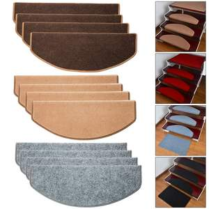 15pcs/Set Self-adhesive Stair Pads Anti-slip Rugs Safety Mute Floor Mats Repeatedly-use Safety Pads Mat for Home Stair