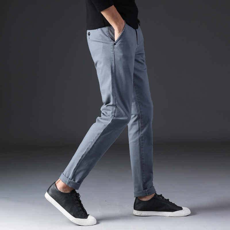 KSTUN 2020 Spring Summer New Casual Pants Men Cotton Slim Fit Chinos Fashion Trousers Male Brand Clothing Basic Mens Pants 23