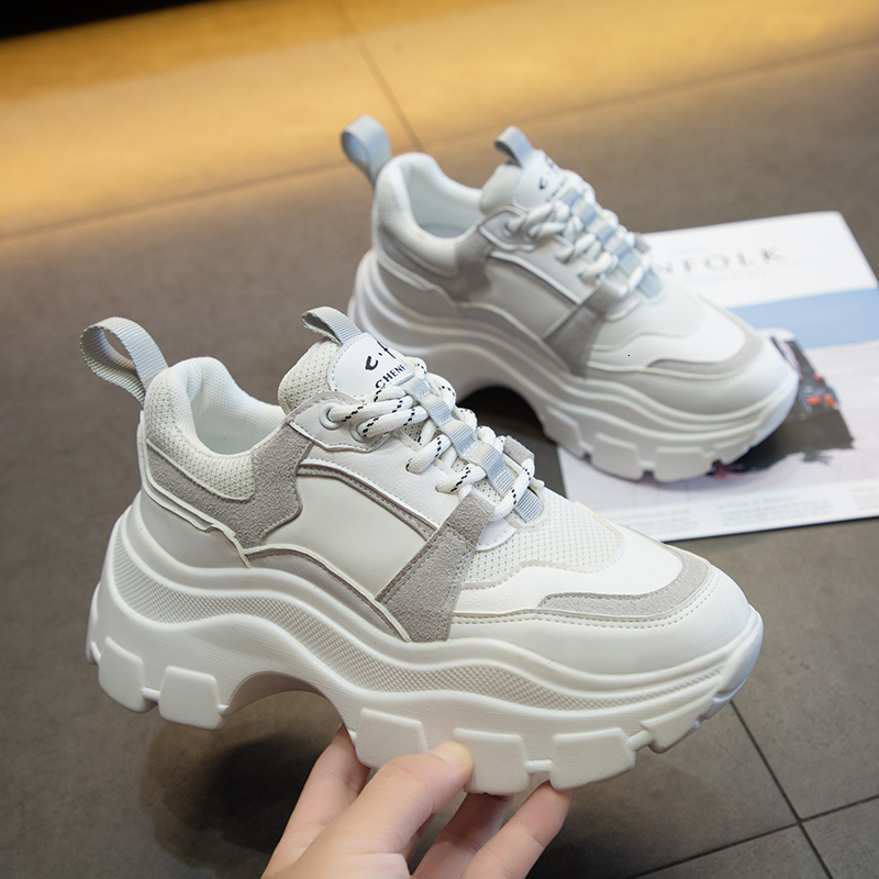 2020 new style chunky sneakers platform shoes women title=