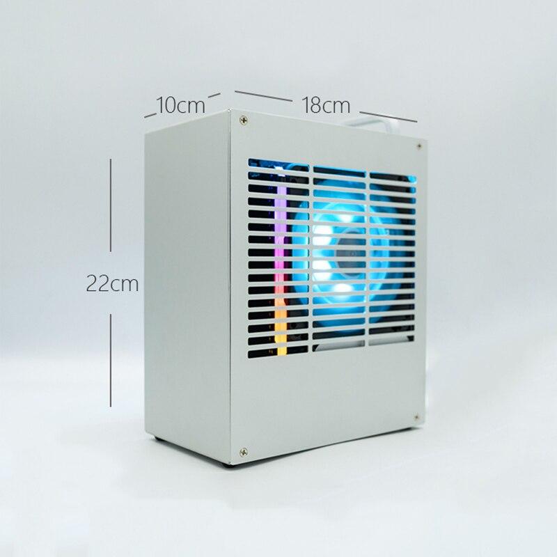 Computer Case HTPC Safe Cabinet ITX MINI Frame All-aluminum For Graphics Card RTX 2070 1660 i3 i5 i7 8700 K39 PC Gamer Chassis E(China)