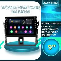 9Android Car Radio Stereo Accessories For Toyota Vios Yaris 2013 2014 2015 2016 Multimedia Player Rear View Camera DVR OBD2 BT