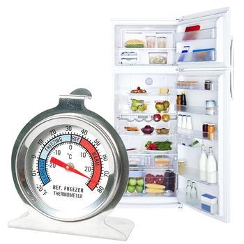 Lodówka domowa wskaźnik zegarowy termometr do zamrażarki wskaźnik temperatury lodówki przydatny termometr temperatura zamrażarki tanie i dobre opinie fridge thermometer Lodówka termometry Gospodarstw domowych termometry Metal Dial
