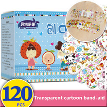 YOOAP 120PCS Waterproof Breathable Cute Cartoon Adhesive Bandages Wound Dressing First Aid Stickers For Children Kids