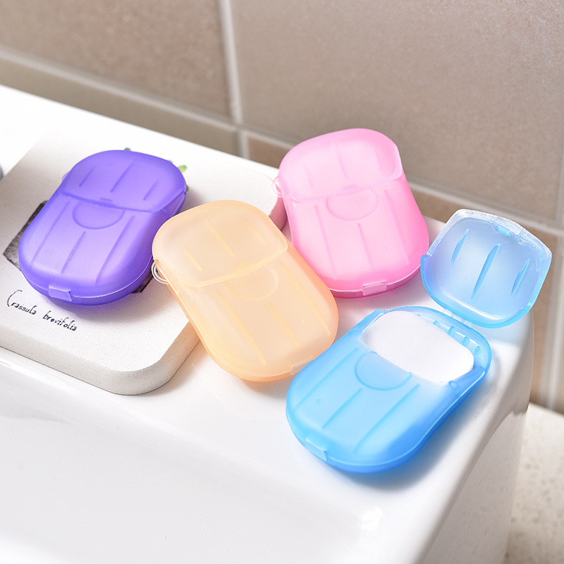 20/100pcs Disposable Soap Paper Hand Washing Hand Sanitizer Soap Trip Travel Kits Portable Mini Paper Soap Box For Hotel Toilet