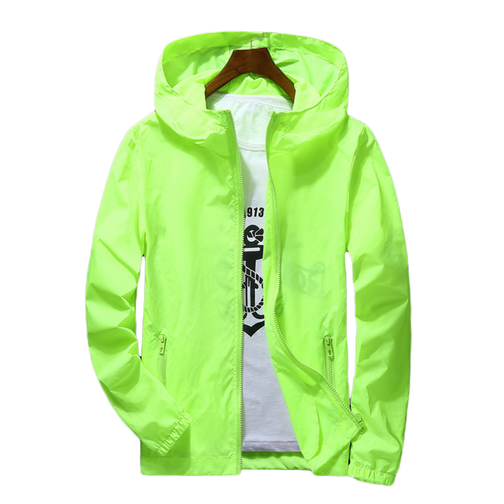 Men Waterproof Wind Breaker Coat Zipper Hoodie Jacket Quick Drying Sport Outwear -MX8