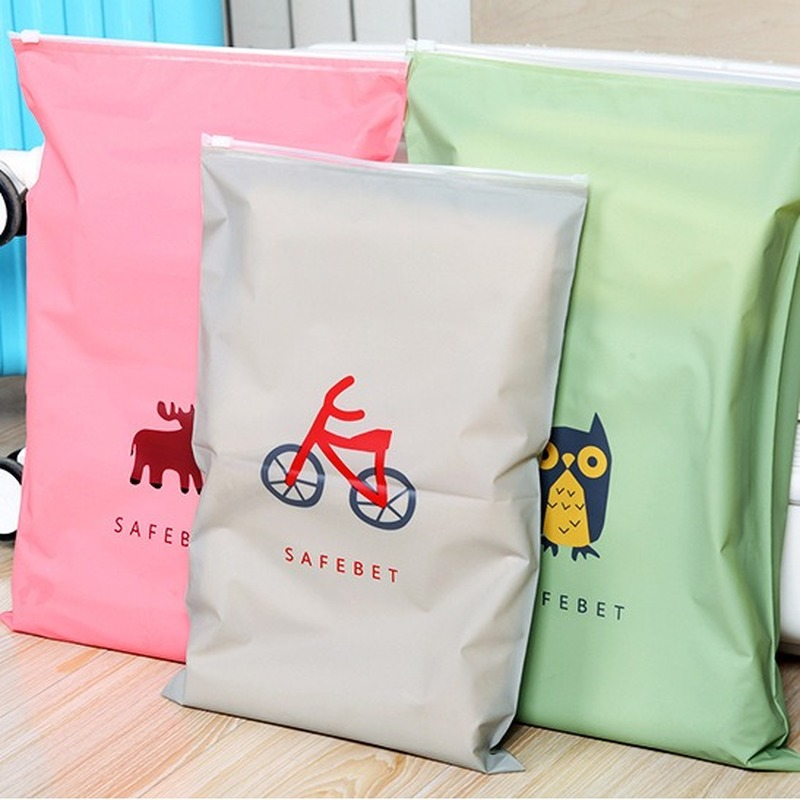 Cartoon Travel Storag Bag Zipper Organizer Bag For Clothing Underwear Socks Shoes Waterproof Housekeeping Packing Pouch Bags