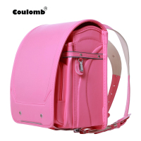 Coulomb Orthopedic Backpack For Children School Bag Kids & Baby Randoseru Japanese PU Hasp Waterproof Backpacks 2018 New Size S