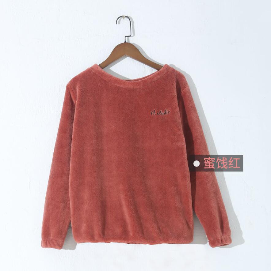 Зимние фланелевые длинные штаны для сна; Толстая Теплая Повседневная Домашняя одежда; повседневные пижамные брюки; мягкие свободные брюки; одежда для сна - Цвет: Tops-Red