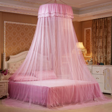 Ceiling-Mounted Mosquito Net Home Dome Foldable Bed Canopy with Hook Princess Tent Curtain Twin Full Queen  D30