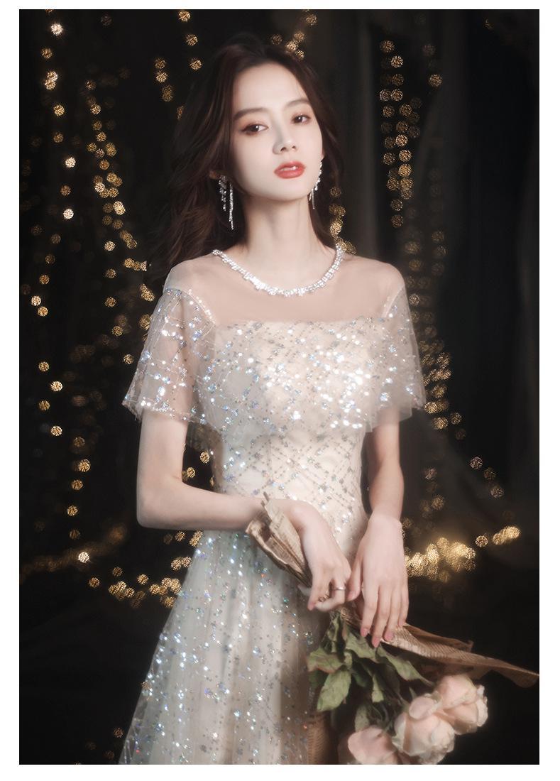lantejoulas malha longo formal vestido de festa
