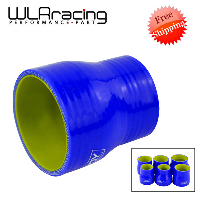 """BLUE & Yellow 2"""" 2.5 2 3 2.48 2.75 2.48 3 2.75 3 3 4 SILICONE HOSE STRAIGHT REDUCER JOINER COUPLING"""