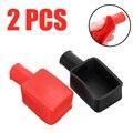 2 шт.  черные  красные автомобильные аккумуляторы с положительными отрицательными клеммами  крышка  изоляционная защита для ботинок  сменны...