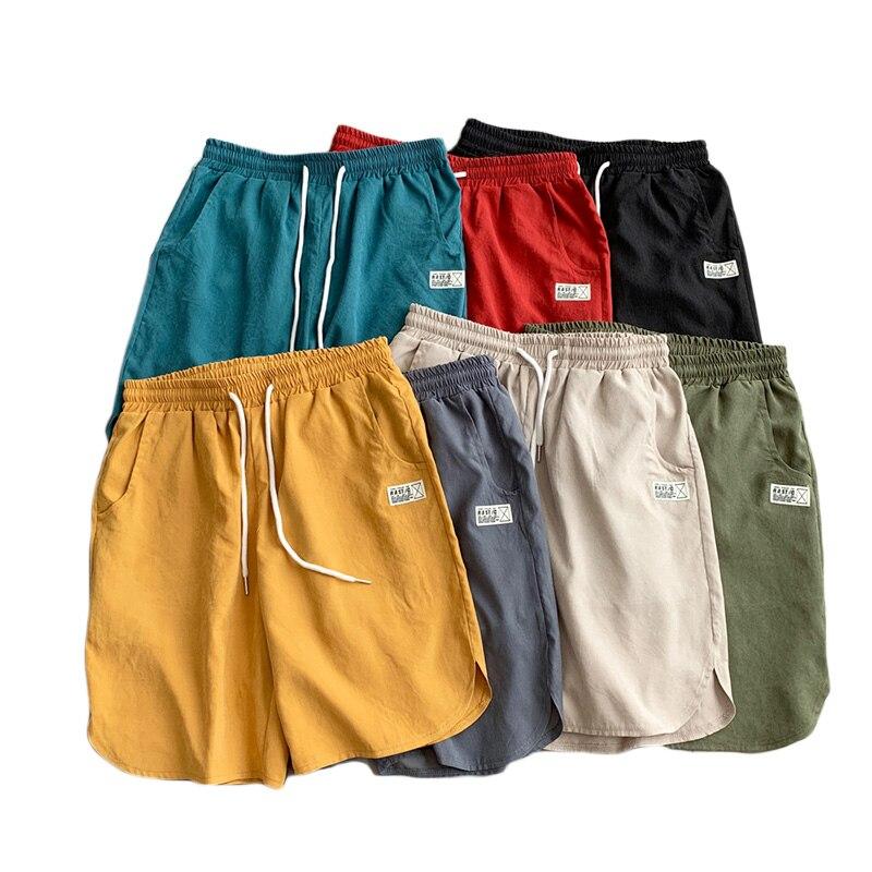 Men's Multi Color Summer Shorts Men Elastic Waist Plus Size Xxxxxl 2020 Casual Plain Beach Short For Men Streetwear Clothes DK31