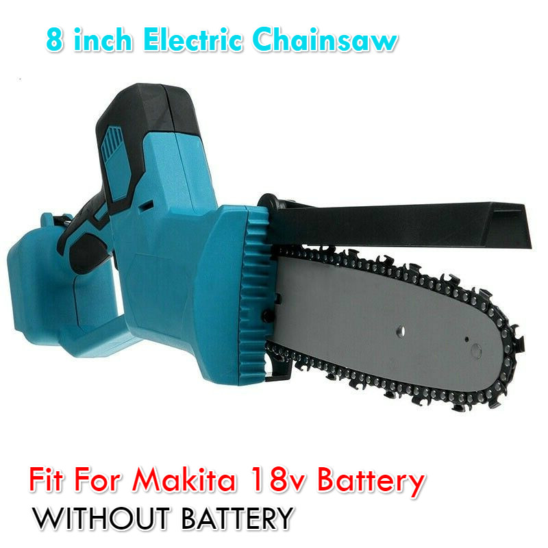 1200W Chainsaw 8 inch Electric Saw Chainsaw Wood Cutters Bracket Brushless Motor For Makita 18v Battery Chain Saw Power Tool