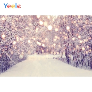 Yeele Photophone Christmas Backdrop Winter Snow Forest Tree Light Bokeh Vinyl Photography Background For Photo Studio Photocall