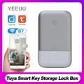 Tuya Smart Schlüssel Lagerung Lock-Box BT 4,2 Drahtlose Passwort Key Safe Box APP Fernbedienung Aluminu Legierung Key Lock box Wetter