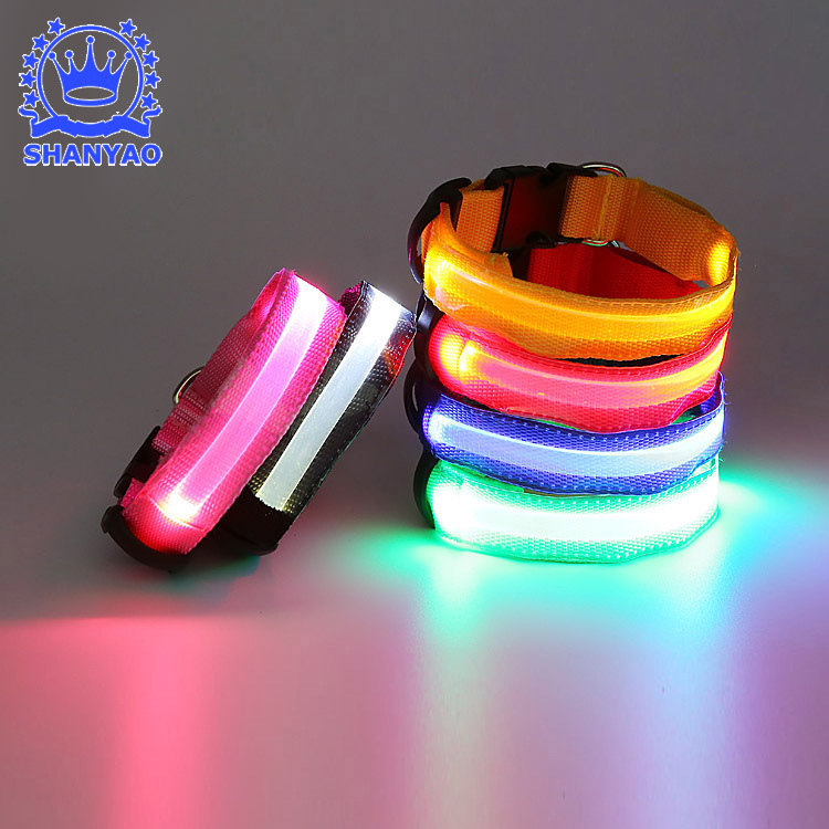 Pet Dog Collar LED Shining Medium Large Dog Pet Dog Collar LED Dog Luminous Collar