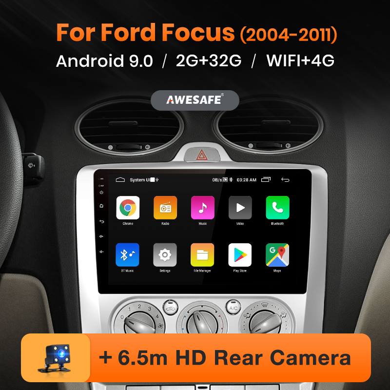 AWESAFE PX9 for Ford Focus 2 3 Mk2 / Mk3 2004-2011 Car Radio Multimedia video player GPS No 2 din Android 9.0 2GB+32GB(China)