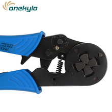 HSC8 16-4 4-16mm2 10-5 AWG MINI TYPE SELF ADJUSTABLE CRIMPING PLIER terminals crimper tools Tube terminal crimp plier tool fsb 054yj 0 5 1 5 1 5 2 5 4mm super strength saving mini type crimping plier