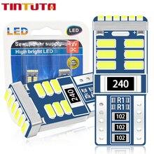 10PCS T10 LED W5W LED WY5W 3014 LED18SMDรถที่จอดรถWedge Lightด้านข้างหลอดไฟโคมไฟเครื่องดนตรีอัตโนมัติใบอนุญาตแผ่น