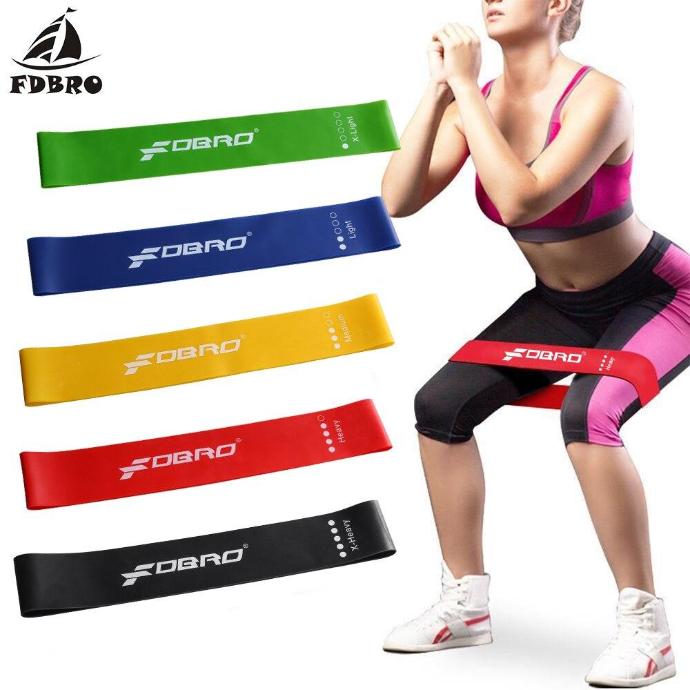 FDBRO Yoga Resistance Bands Indoor Outdoor Fitness Equipment 0.35mm-1.1mm Pilates Sport Training Workout Elastic Rubber Bands
