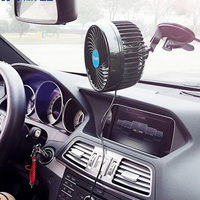 6'' 24V Car Dashboard Windscreen Cooling Fan Cooler Windshield Suction Cup Mounted Adjustable