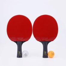 2 шт/лот настольная ракетка для тенниса с шариком 5 звездочная