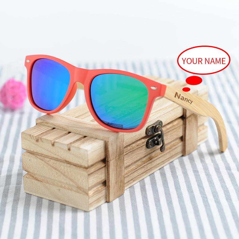 Óculos de Sol Personalizar para Homem Óculos de Sol em Caixa de Presente de Madeira Bobo Pássaro Bambu Porarized Mulher em Caixa de Presente Madeira Cor Clara