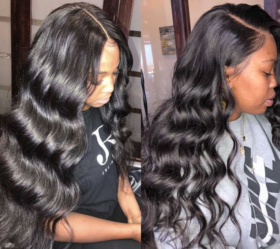 Laço frontal perucas de cabelo humano base de seda cabelo humano 13 × 4 peruca frontal do laço para preto feminino 10-26 polegadas de cabelo remy