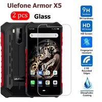 Armadura X5-Protector de pantalla del teléfono a prueba de arañazos, vidrio templado para Ulefone Armor X5, 2-1 Uds.
