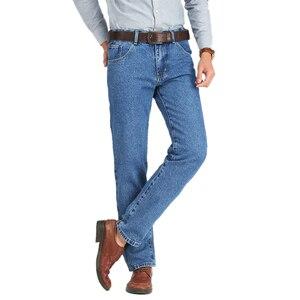 Image 3 - Calça jeans masculina clássica, para homens de negócios primavera outono verão, skinny stretch slim, 2019