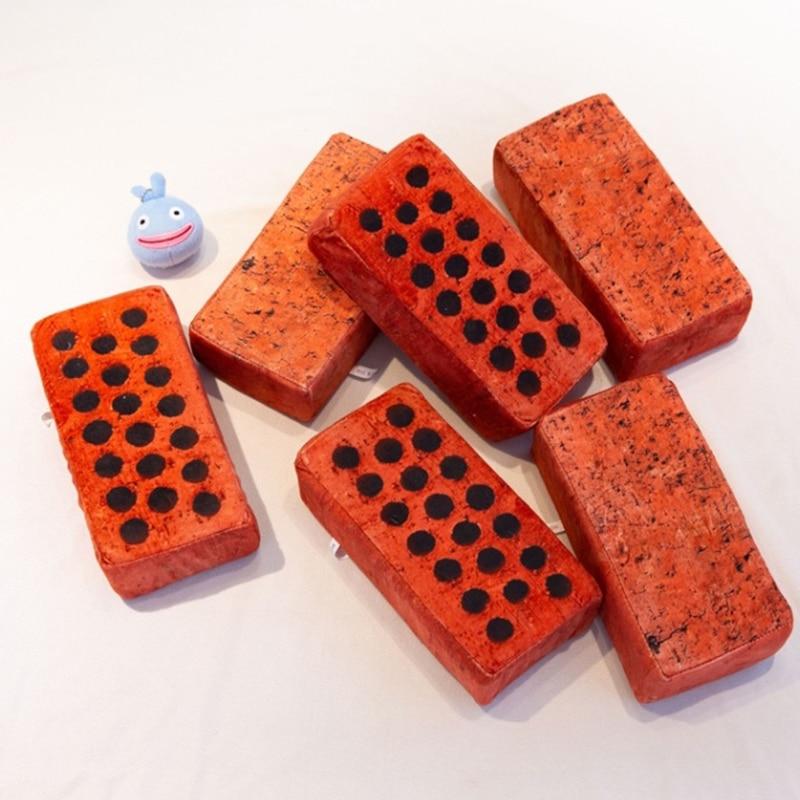 1pc Personality Creative Realistic Brick Brick Nap Pillow Plush Toy Prank Joke Funny Toys Office Men And Women Gifts