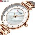 CURREN Модные Роскошные Брендовые женские кварцевые часы креативные женские наручные часы для женщин часы Relogio Feminino кожаные часы
