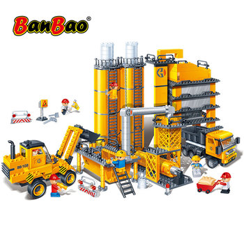 BanBao 8531 Construction Engineering Concrete Truck Blocks Educational Bricks Model Building Toy Children Kids Friend Gift цена 2017