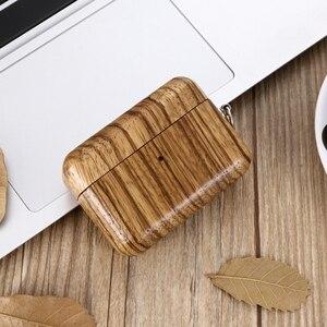 Image 2 - 2019 luksusowe ręcznie drewniane etui do AirPods Pro z litego drewna pokrowiec ochronny z anty zgubioną klamrą do Airpods 3