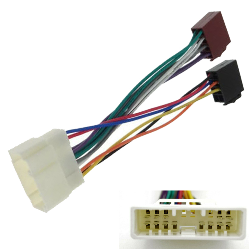 Car Auto ISO Wiring Harness Adaptor Cable for Honda CRV Accord Civic Integra Prelude Odyssey Legend(China)